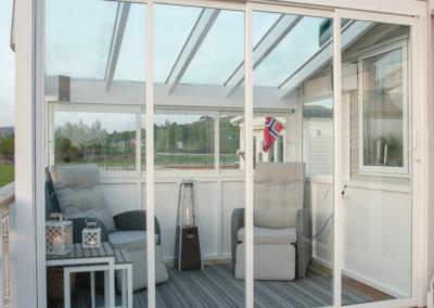 Usiolert skyvedør og -vindu for hagestuer